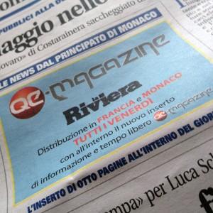 Article dans le QE Magazine de la Riviera