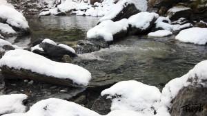 La vallée de la Roya sous la neige